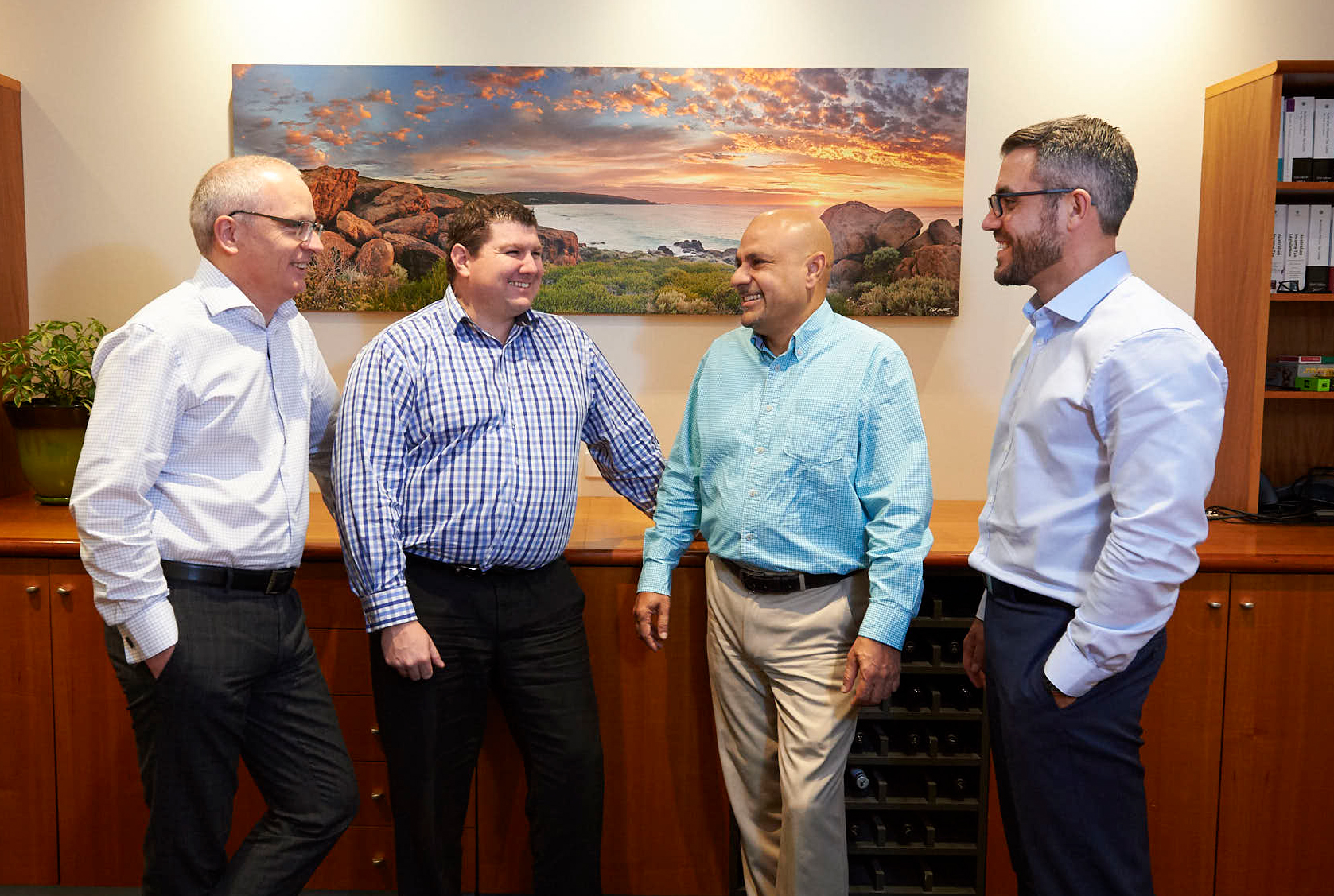 Four Paragon Consultants Directors in Boardroom at Nedlands office WA