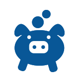 Icon of piggybank to represent self managed superannuation fund establishment and management