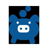 Icon of piggybank to represent self managed superannuation fund establishment and management