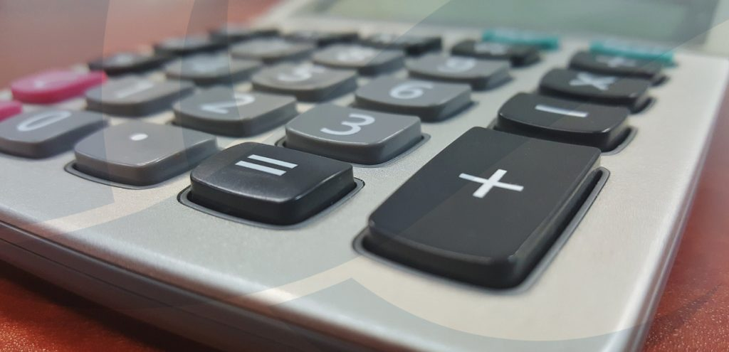 Close up of calculator to represent budgeting services