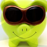 Green piggybank to represent cashflow forecasting services