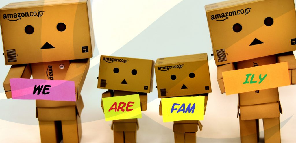 Four people made of cardboard boxes to represent family trust accountancy and advice