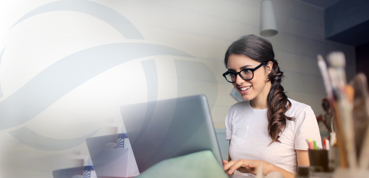 Woman at laptop to represent personal accountancy services