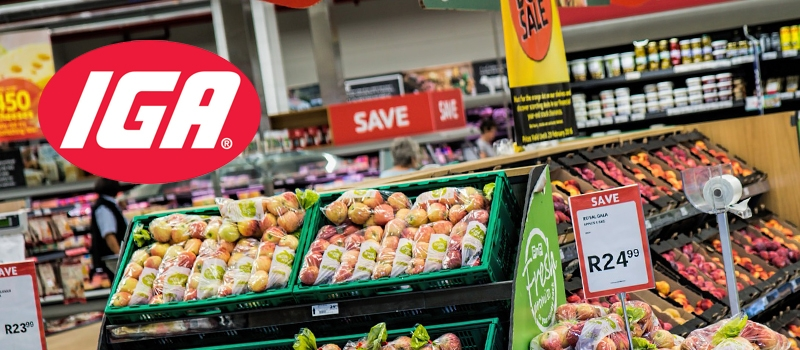 IGA fruit and vegetable section to accompany testimonial from the client